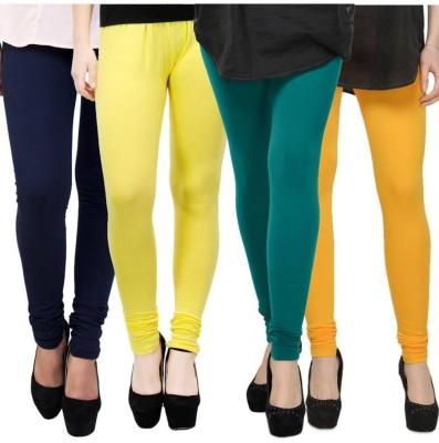 Fashion Zilla Women's Dark Blue, Yellow, Blue, Gold Leggings
