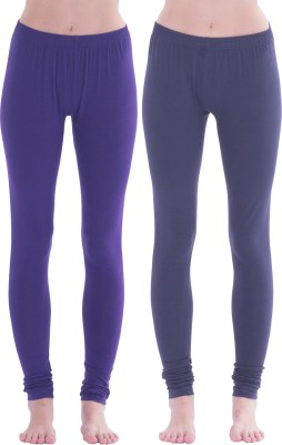 Spictex Girl's Purple, Dark Blue Leggings