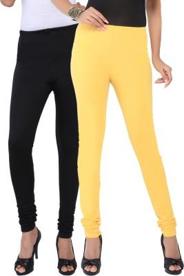 Fascino Women's Black, Yellow Leggings