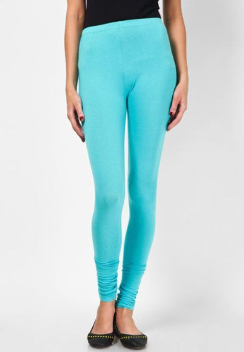 Not Bad Womens Light Blue Leggings