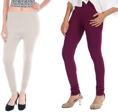Colors More Women's Purple, White Leggings