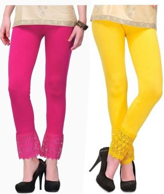 MDS Jeans Women's Pink, Yellow Leggings