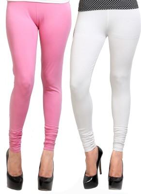 Design Classics Women's Pink, White Leggings