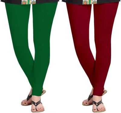 ZACHARIAS Women's Green, Maroon Leggings