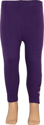Chhota Bheem Girl's Purple Leggings