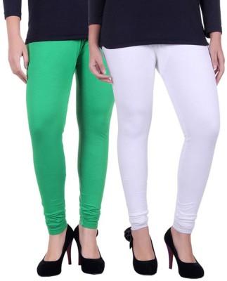 Facere Women's Green, White Leggings