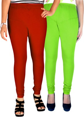Dolphin Women's Red, Light Green Leggings