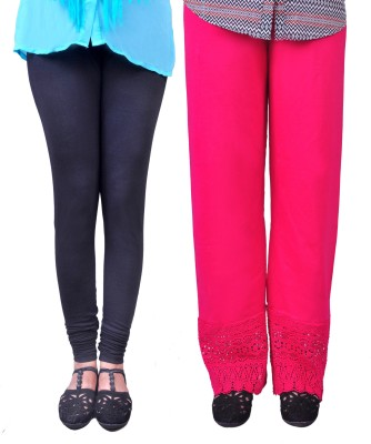Anubhaviya Women's Pink, Black Leggings