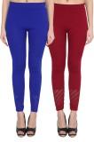 NumBrave Women's Blue, Maroon Leggings (...