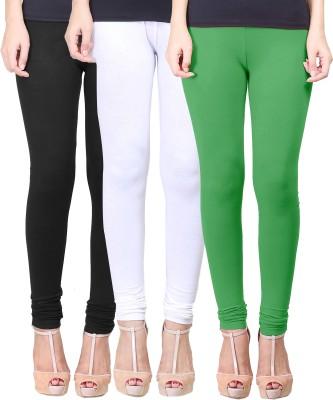 Eshelle Women's Black, White, Light Green Leggings