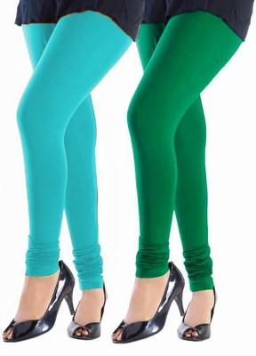 Trusha Dresses Women's Light Blue, Green Leggings