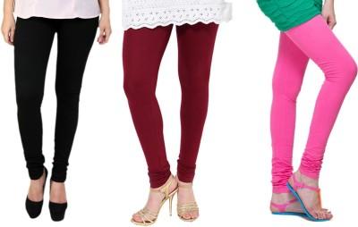 Lienz Women's Black, Maroon, Pink Leggings