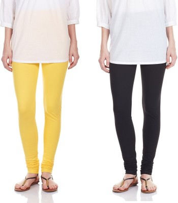SRS Women's Black, Yellow Leggings
