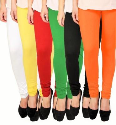 Ishani collections Women,s White, Yellow, Red, Dark Green, Black, Orange Leggings