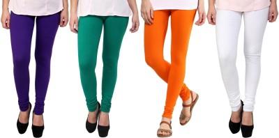 Legemat Girl,s Purple, Green, Orange, White Leggings
