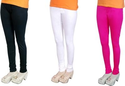 Radhika Garments Women's Black, White, Pink Leggings