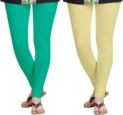 Aannie Women's Green, Beige Leggings(Pack of 2) at flipkart