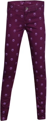 Gini & Jony Girl's Purple Jeggings