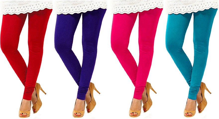 Charu Boutique Womens Multicolor Leggings(Pack of 4)