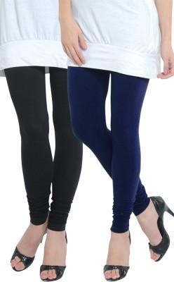 Tulsattva Women's Dark Blue, Black Leggings