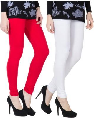 VERMELLO Women's Red, White Leggings