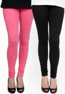 Lasunj Women's Pink, Black Leggings