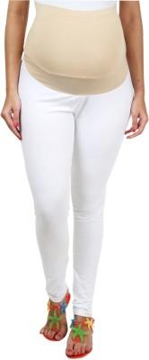 Kriti Ethnic Maternity Women's Maternity Wear White Leggings
