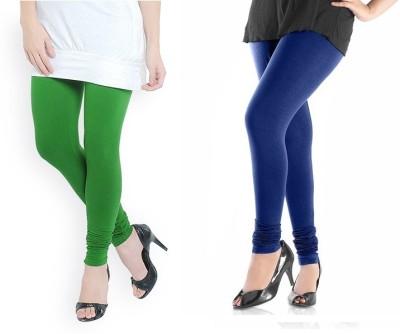 TheEmpire Women's Green, Blue Leggings