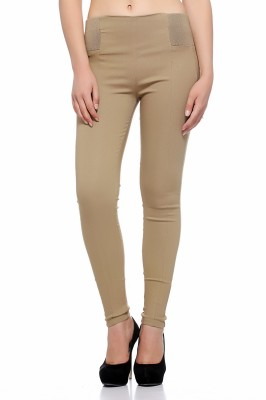 Fasnoya Women's Brown Jeggings