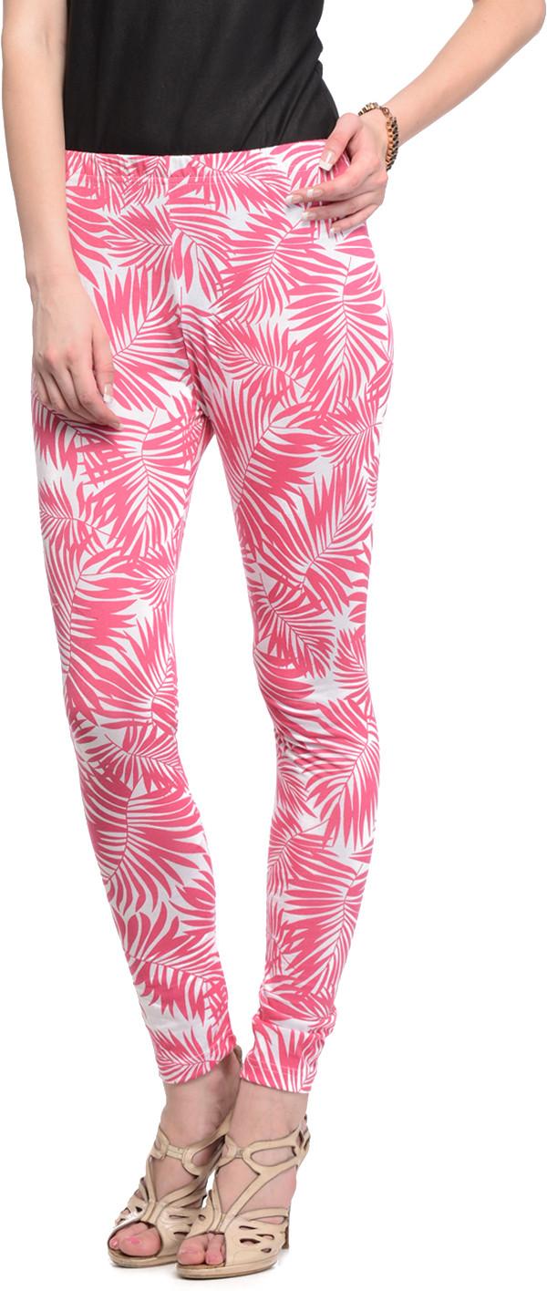 Gritstones Womens White, Pink Leggings