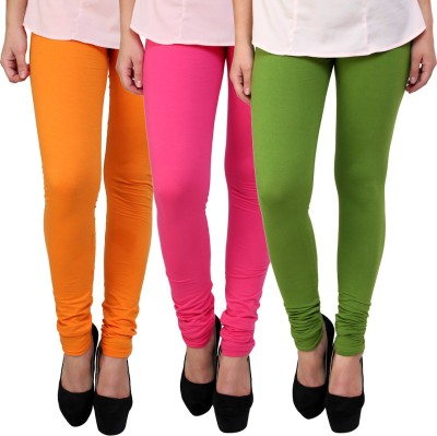 Anekaant Women's Pink, Green, Orange Leggings