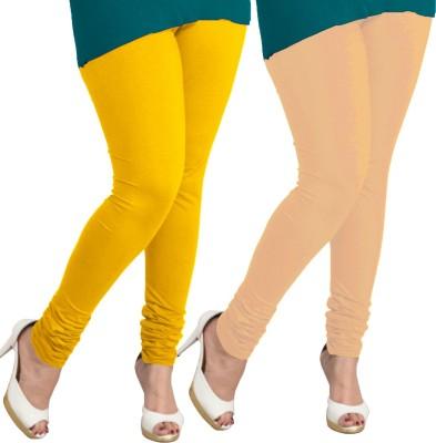 I-Diva Women's Yellow, Beige Leggings