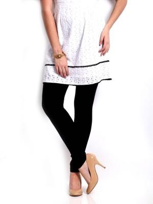 Cotton Lycra Women's Black Leggings
