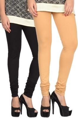 17.Hills Womens Black, Beige Leggings