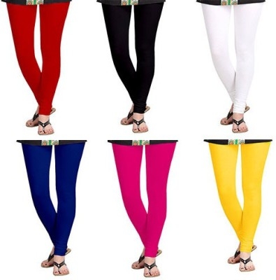 Timbre Women's White, Black, Blue, Red, Pink, Yellow Leggings