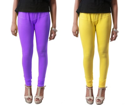amie Women's Yellow, Purple Leggings