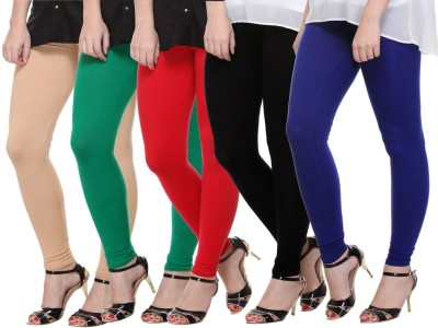 Mynte Women's Beige, Green, Red, Black, Blue Leggings