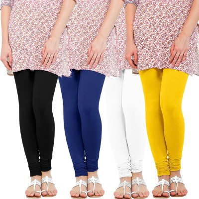 WellFitLook Women's Black, Blue, White, Yellow Leggings