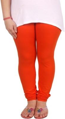 lycra Women's Orange Leggings