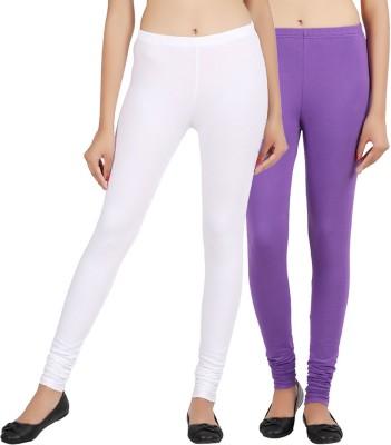 Sewn Women's Purple, White Leggings