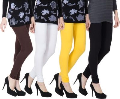 VERMELLO Women's Brown, White, Black, Yellow Leggings