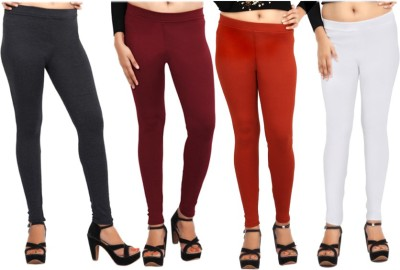 Comix Women's Black, Maroon, Orange, White Leggings