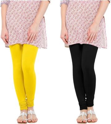 Oh Fish Women's Black, Yellow Leggings