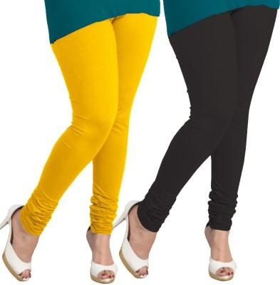 I-Diva Women's Yellow, Black Leggings