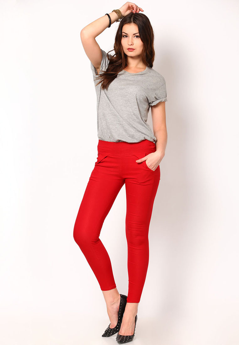 Sportelle USA India Womens Red Jeggings