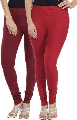 Fexy Women's Maroon, Maroon Leggings