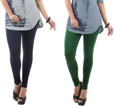 Fashionjackpot Women's Dark Blue, Green Leggings