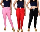 Lystock Women's Red, Black, Pink Legging...