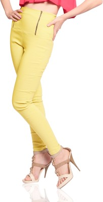 Miss Chase Women's Yellow Jeggings