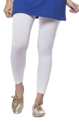 De Moza Women's White Leggings